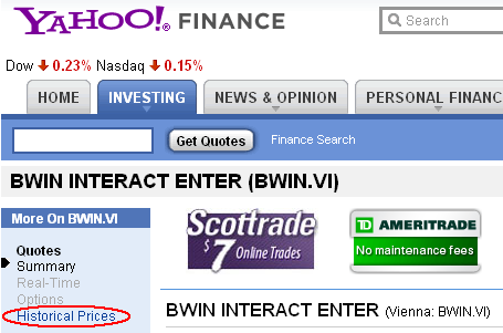 download data from yahoo finance