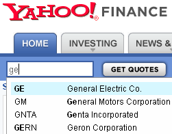 Searching For A Stock On Yahoo Finance By Name Or Isin Code