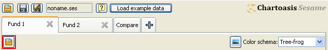 button for loading .csv file
