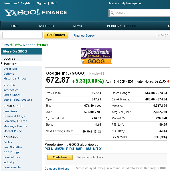 how to get data from google finance